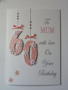 Personalised Handmade Birthday Card 18th 21st 30th etc Mum Sister Nan friend. | eBay