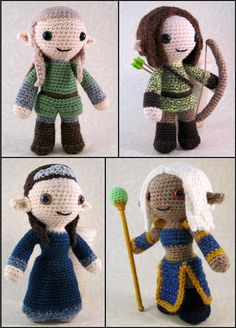 *PLEASE NOTE - THIS LISTING IS FOR A CROCHET PATTERN NOT THE FINISHED ITEM.* Elves come from European mythology and folklore and have become part of modern fantasy books, films and games. They are usually portrayed as being similar to humans, but often more beautiful or wise, and generally with pointed ears. They may be very long-lived, and are often shown to be skilled in archery and magic. This 28-page pattern will let you make a variety of Elves, both male and female, with a choice of…