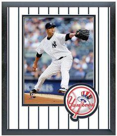 Hiroki Kuroda 2013 New York Yankees - 11 x 14 Team Logo Matted/Framed Photo