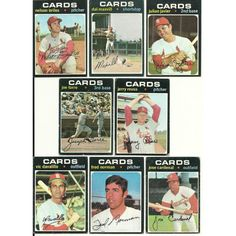 1971 VINTAGE Topps CARDINALS Team 15 cards partial set lot HOF Torre Javier Listing in the 1970-1979,Sets,MLB,Baseball,Sports Cards,Sport Memorabilia & Cards Category on eBid United States | 147730127