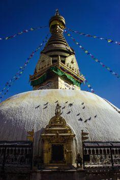 Swayambhunath, Monkey Temple, Kathmandu, Nepal, October 2013.