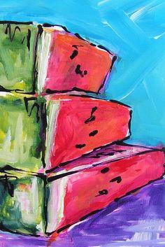 Triple Stack Print by Judy Rogan