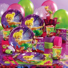 Tinkerbell Birthday Party decorations & table settings
