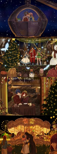 Christmas dates by blanania on DeviantArt --- HOLY CROW SO AWESOME *Q*
