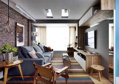 Sala moderna de apartamento com decoração colorida! | Jeito de Casa | Bloglovin'