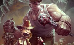 The Goon Illustrated Poster Design