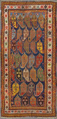 Type :Kazak Origin :Caucasus Circa :1870 Size: 121 X 243