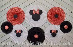 Minnie Mouse inspirado conjunto de 8 ocho por ThePapierStudio