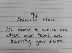 --i try to write my own song..it helps with my pain...but i cant ever see what i write..to many tears..too much pain..to weak