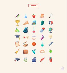 Set of Characters and Icons (Back to school) on Behance