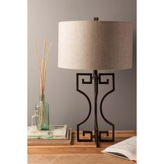 Glamorous Greek Key Lamp