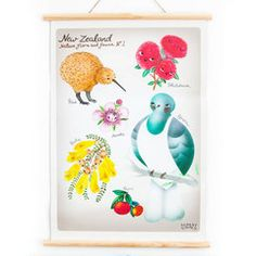 Misery Guts Wall Chart Discovery Flora & Fauna A2 | Iko Iko, the most exciting shop for gifts, homewares, accessories and more.