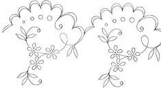 Motifs fleurs - Broderie d'Antan