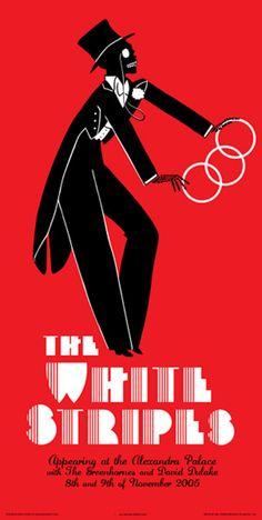 La bellezza dei poster del rock - White Stripes, 8 e 9 novembre 2005, Londra