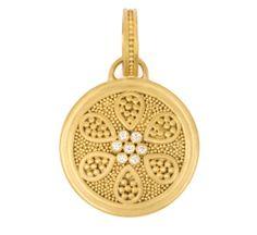Grecian Flower Pendant with Diamonds