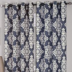 Loves the Ikat pattern on these drapes.  #JCPHome #EvaHomeJCP #sponsored Medina Grommet-Top Outdoor Curtain Panel - JCPenney