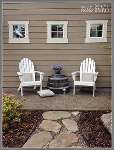 Little Brags: Showing Off My New Adirondack Chairs From World Market