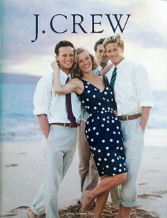 vintage j.crew catalog. gal with the guys!