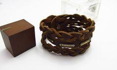 Уникальные украшения: Мужской браслет из ремня