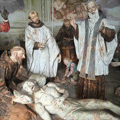 La mort de saint François. Sacro Monte d'Orta, Italie