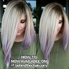 "HOW-TO & Formulas now LIVE! SEARCH ""Shadow Blonde + Lilac"" on…"