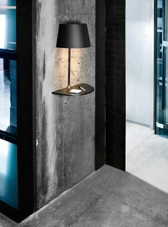 This lamp looks unique and interesting, designed by Hareide Design for Northern Lighting. This lamp has usual table lamp design that cut half and attached to Lighting Concepts, Lighting Design, Lighting Ideas, Unique Lighting, Industrial Lighting, Sconce Lighting, Lighting Solutions, Spot Design, Design Room