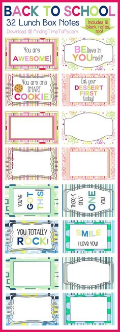 Use these free printable lunch box notes to send extra love and encouragement when mornings get a little hectic. I love that there are blank notes, too!