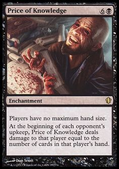 Magic: the Gathering - Price of Knowledge - Commander 2013 Eldritch Horror, Magic The Gathering Cards, Magic Cards, Summoning, Deck Of Cards, Mtg, Knowledge, Alternative Art, Tom Clancy