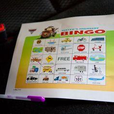 Mater's Highway Bingo #DisneySide