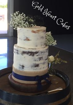 Rustic 2 Tier Wedding Cake  http://goldheartcakes.website/weddings/2016/12/18/rustic-2-tier-wedding-cake