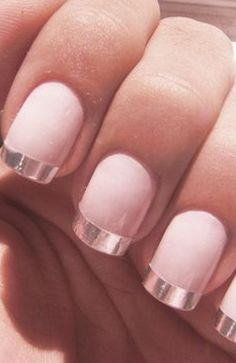 French (rose gold!) mani!! Change up your mani routine! Just like having your…