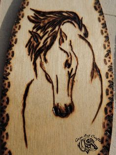 Wooden horse bookmark perfect gift for reading lovers