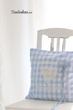 Cushion Vichy Blue | Flickr - Photo Sharing! #blue