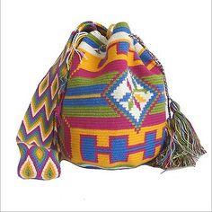 Authentic Handmade Wayuu Mochila Bag, wayuu bag, Palomino Bag