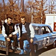 Richard and Lee Petty