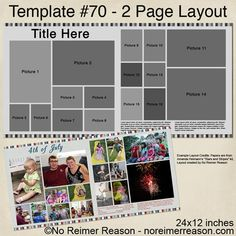 Free Two Page Digital Scrapbook Template for download