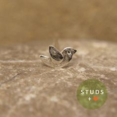CARTILAGE french bird sterling silver/ cartilage by StudsEarrings
