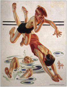 Evokes memories of my childhood. Painting by J.C. Leyendecker