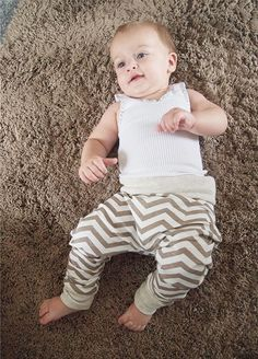 Here's a tutorial on how to make your own baby harem pants without a pattern. They're cute and you can customise them with adorable patterns and colours!