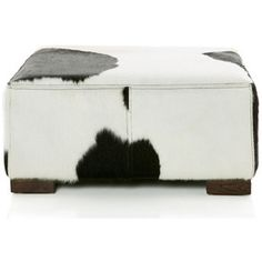 each angle of the furniture accent features a panel of black and white antler fabric to heighten the unique design of the simple square ottoman