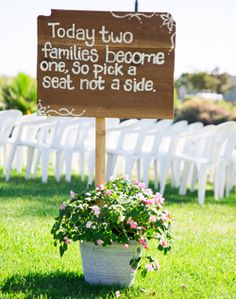 There will be several little of these signs at my wedding then one BIG one at the front door and one above the alter