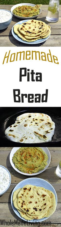 Homemade Pita Bread | Whole Made Living. Homemade Pita Bread knocks the socks off of store bought pita for sure. The texture and taste are incomparable. Give it a try if you haven't yet. It's also a lot cheaper than store bought and great to turn into your own pita chips!