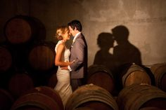 Wedding photography by Eva Bradley at Hawke's Bay winery, Mission Estate - Ambience of the underground barrel room