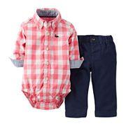 Carter's® Roll-Cuff-Sleeve Bodysuit and Pants Set – Boys newborn-24m