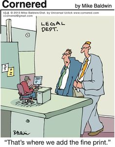 The small print division in the law office:)