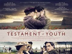 Testamento de Juventud (2013) Emocionante adaptación de las Memorias de Vera Brittain, entre 1913 y 1925, tras el estallido de la I Guerra Mundial. La joven deja sus estudios literarios en Oxford y se ofrece como enfermera para ayudar a los heridos en el frente.
