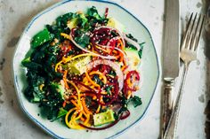 Rainbow Chakra Salad | Well and Full | #plantbased #yoga #recipe