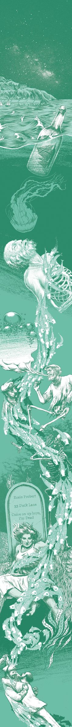 """Based on """"Under Milk Wood"""" a 1954 radio play by Dylan Thomas. Illustrated by Madeleine Rose"""