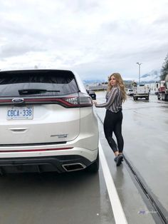 Taking the ferry with a Ford Edge in British Columbia