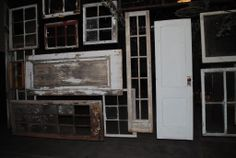 Doors and windows as a back stage wall.